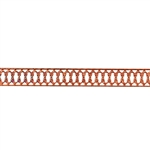 Patterned Strip - Copper - Woven Edges 24 gauge - 6 inches