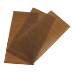 "Tuff Sheet - Transparent Teflon 4"" x 8"" - Set of 3"