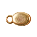 Bronze Crimp End Cap - Oval