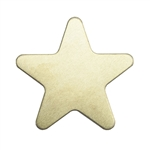 Brass Blank - Star - 24 gauge
