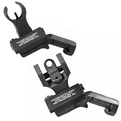 Troy Folding Offset Sight Set - HK - Black