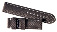 Corsa Vintage Cut Carbon Fiber Band / Strap for Panerai Watches  44mm Pam