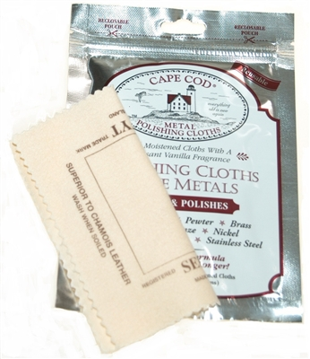 2 packs Cape Cod Polish Company & 2 Selvyt Polish Cloths for High Polish Watches