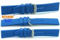 Offshore Tactical Diving Reversible Silicon Dive Strap Blue  24mm,22mm,20mm