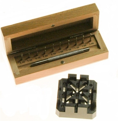 Suissetek Punch Set for Watch Link-Pin Removal Wood Box