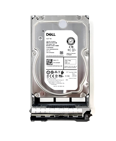 "Part# 00F9W8 Original Dell 4TB (4000GB) 7200 RPM 12Gb/s 3.5"" SAS hot-plug hard drive"