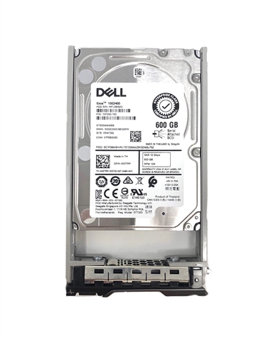 "Part # 010DR3 Dell 600GB 10000 RPM 2.5"" SAS 12Gbps 13G hot-plug hard drive"
