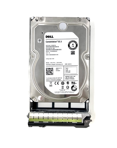 "Part# 01CG1Y Original Dell 4TB (4000GB) 7200 RPM 6Gb/s 3.5"" SATA hot-plug hard drive"