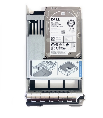 "Part# 02K5N7 - Original Dell 1.2TB 10000 RPM 3.5"" 12Gb/s SAS hot-plug hard drive installed into hybrid kit. (these are 2.5 inch drives that includes convertors and 3.5"" trays for installation into 3.5"" slots for your MD-Series Gen13"