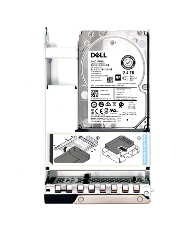 Part# 0697YR Original Dell 2.4TB 10K RPM 512e 12Gbps 2.5in SAS hot-plug hard drive in 3.5in Hybrid Tray