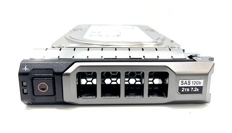 "06HF4Y Original Dell 2TB 7200 RPM 3.5"" 12Gbps SAS hot-plug hard drive. (these are 3.5 inch drives) Comes w/ drive and tray for your PE-Series PowerEdge Servers."