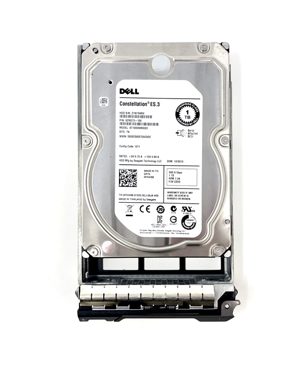 1 Year Warranty New Dell PowerEdge 1950 Hot Swap 1TB 7.2K Hard Drive