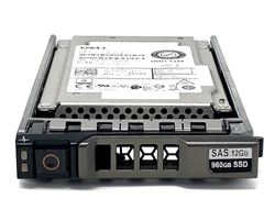 "Dell 960GB SSD SAS 12Gbps 2.5 inch hot-plug drive. Comes w/ 2.5"" drive and 2.5"" tray for 13G PowerEdge Servers."