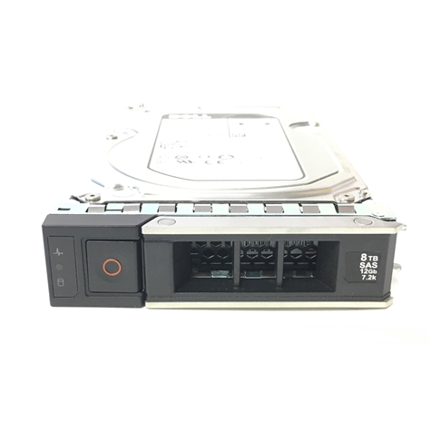 Part# 400-ATKR Original Dell 8TB 7200 RPM 12Gbps 3.5in SAS hot-plug hard drive