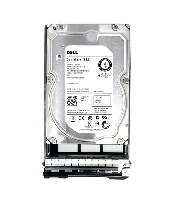 PowerEdge T310 T320 T410 T420 - Certified Dell 2TB 7 2K RPM 6Gbps 3 5 SAS  Hard Drive