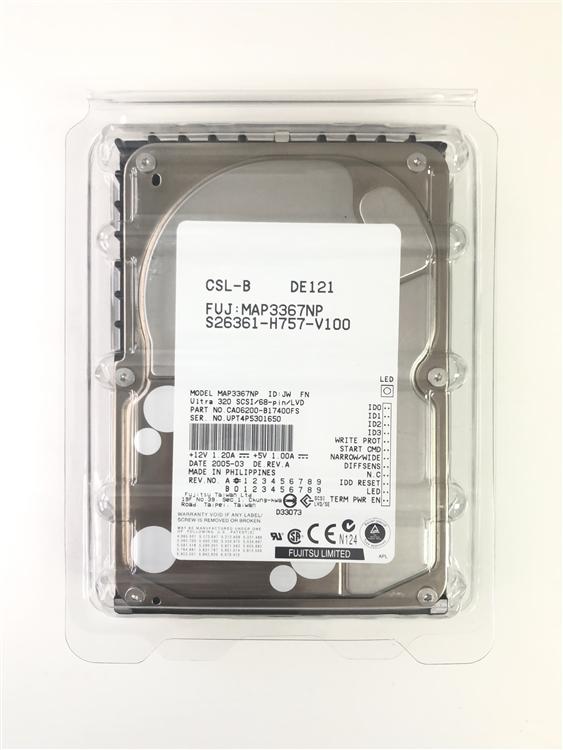 "Fujitsu MAU3073NC 3.5/"" 73GB 10K RPM Ultra320 SCSI HDD"