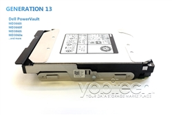 "Part# MD10TB7.2K3.5-M3x60 Original Dell 10TB (10,000GB) 12Gb/s 7200 RPM 3.5"" SAS hot-plug hard drive"