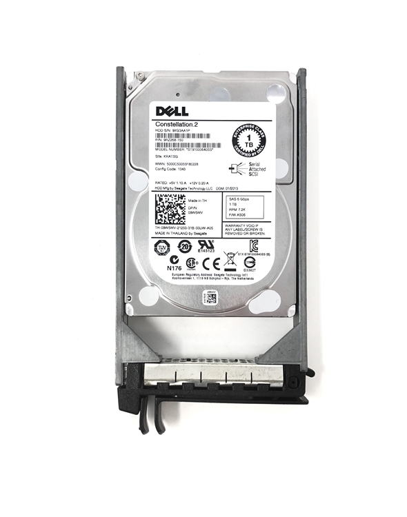 PowerEdge 2900 2950 2970 - Dell Certified 1TB 7 2K SAS 2 5