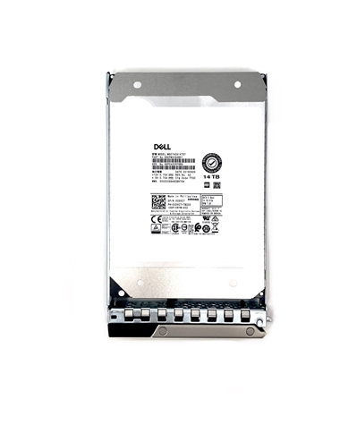 "Part# PE14TB7.2K-SATAGEN14 Original Dell 14TB 7200 RPM 3.5"" SAta hot-plug hard drive"