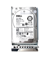 Dell 2.4TB 10000 RPM 2.5in SAS 512e 12Gbps, 14th Gen hot-plug hard drive.