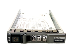 "Dell 960GB SSD SATA 6Gbps 2.5 inch hot-plug drive. Comes w/ 2.5"" drive and 2.5"" tray for 11G & 12G PowerEdge Servers."