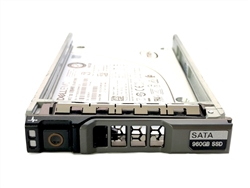 "Dell 960GB SSD SATA 6Gbps 2.5 inch hot-plug drive. Comes w/ 2.5"" drive and 2.5"" tray for 11G & 12G PowerEdge Servers"