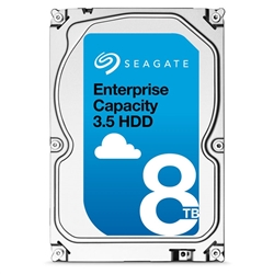 "ST8000NM0115  Seagate SED 8TB 7.2K 6Gbps 4Kn 3.5"" SATA Hard Drives with 5 Year Seagate Warranty."