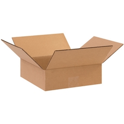 BOX 070704 7x7x4 Flat Corrugated Shipping Boxes