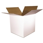BXW 101010 10x10x10 White Corrugated Shipping Box