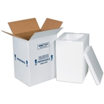 FIS C212 Foam Insulated Shipping Boxes 8x6x12