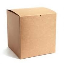 "GBR 0553K - Natural Kraft Gift Box - - 5"" x 5"" x 3"", 100 Per Case"
