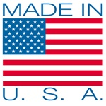 "LBL U504  Label - Flag - ""Made In U.S.A. - - 4"" x 4"", 500 Per Roll"