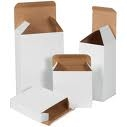 "RTE W730 5 1/4"" x 1"" x 5 1/4""  White Chipboard box"