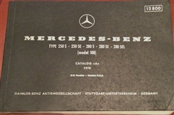 MERCEDES  108Ch. ILLUSTRATED PARTS BOOK