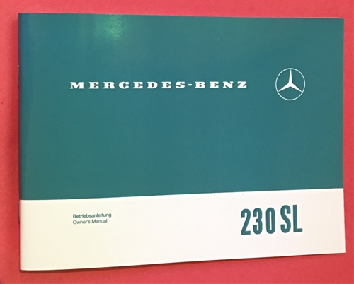 Mercedes benz 1963 1967 230sl owners manual mercedes benz 1963 1967 230sl owners manual publicscrutiny Images