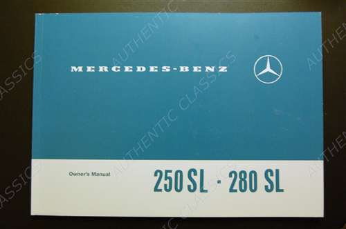 Mercedes 450sl 280sl Owners Service Manual ignition system w111 w107 w113 tuneup