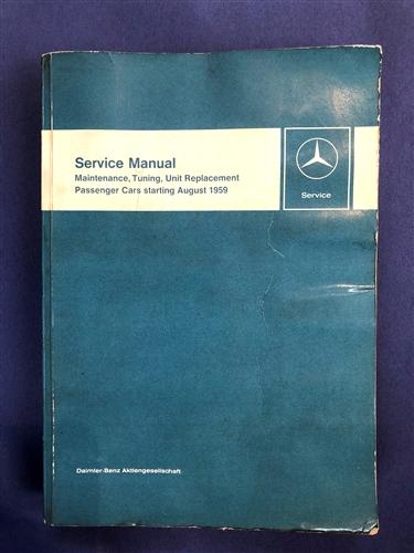 mercedes benz maintenance manual