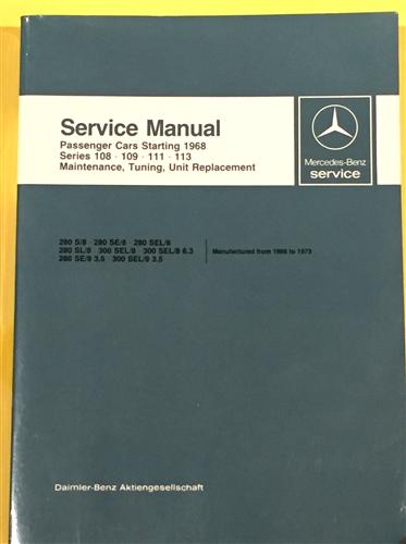 mercedes factory service manuals