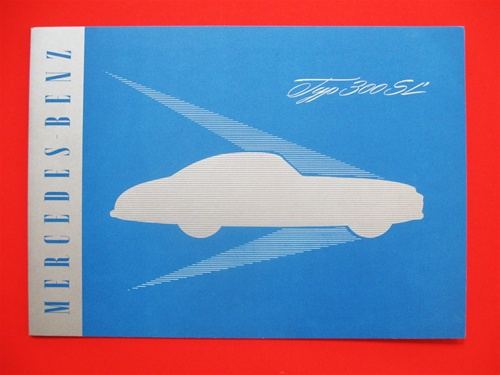 mercedes 300sl gullwing color english brochure 8 pages