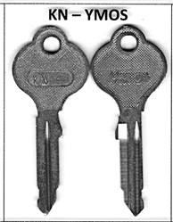 "Mercedes YMOS ""KN"" type Key Blank - Genuine NOS part."