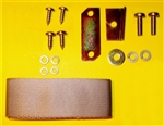 Hood Retaining Strap, Plate & Hardware Kit for Mercedes 230SL 250SL 280SL