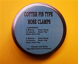 Cotter Type Hose clamp kit - 5mm & 9mm Sizes