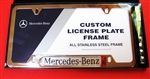 License Plate Frame with Mercedes Logo-Stainless Steel