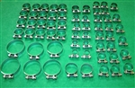 62 piece Original Type Hose Clamp Kit for 250SL 280SL