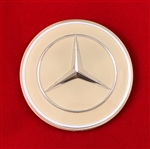 Ivory Color Mercedes Emblem / Star for Steering Wheel Hub Pad - 250SL 280SL & 108,109,110,111,114,115 Ch.