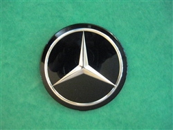 Black Mercedes Emblem / Star for Steering Wheel Hub Pad - Fits 230SL 250SL 280SL & 108,109,110,111,114,115 Ch.