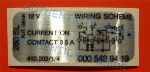 decal relay wiring diagram 410 203 1 4 for 280sl with automatic rh authenticclassics com