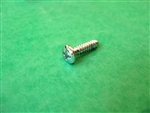 CHROME PLATED OVAL / LENS  HEAD SHEET METAL SCREW - DIN 7983 - 3.9 x 19