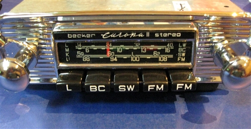 Becker Europa - AM / FM STEREO / Shortwave Radio - for Mercedes 190SL -  With iPod Adapter