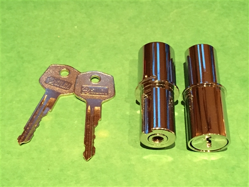 Mercedes 190SL - Matched Pair Early Door Lock Cylinders & Mercedes 190SL Matched Pair Early Door Lock Cylinders 2 ea Cyl